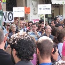 Manifestación contra Reforma Sanitaria en Madrid