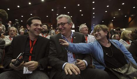 Alexis Tsipras, pierre Laurent, Maite Mola