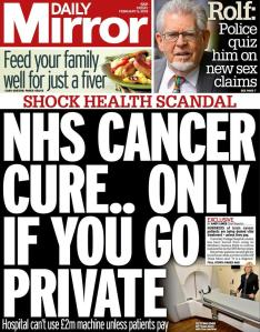 NHS Cancer Cure only...